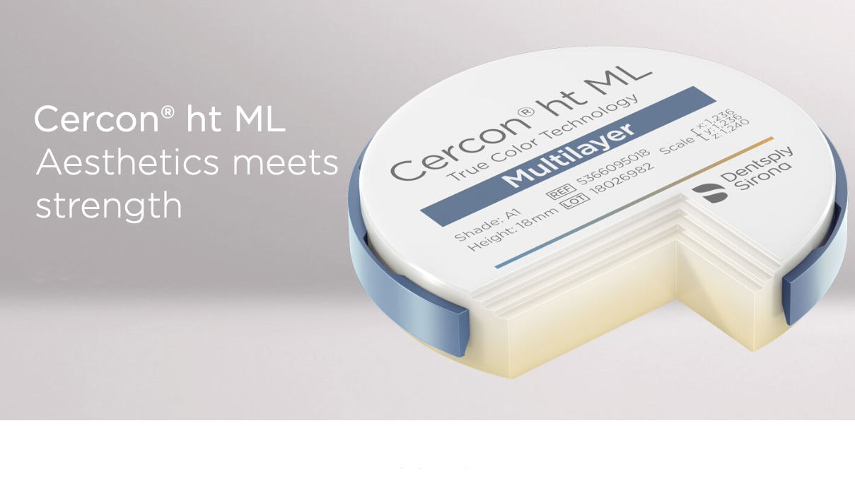Cercon ht ML – up to 14-unit bridges with the Cercon multilayer solution from Dentsply Sirona